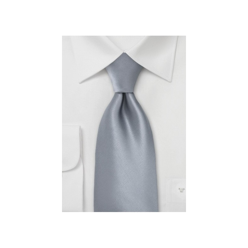 Solid Dolphin-Silver Color Tie in XL Length