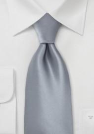 Festive Kids Tie in Solid Dolphin-Silver