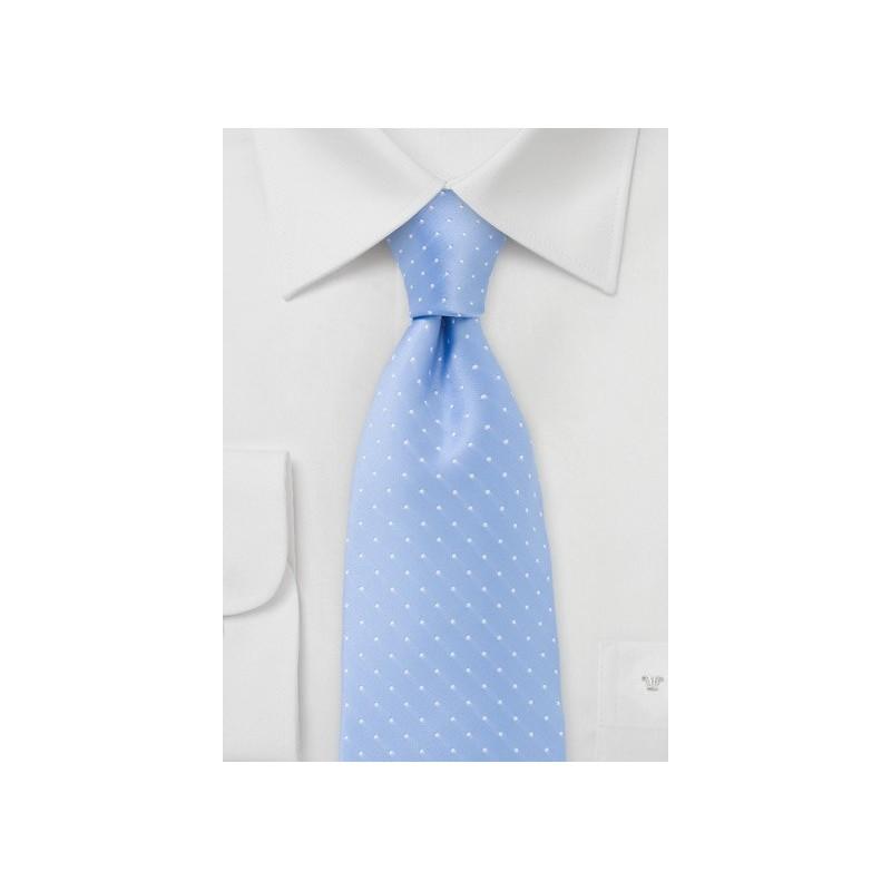 Coastal Blue Polka Dot Tie in XL Length