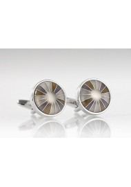 Round Retro Designed Cufflinks