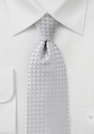 Light Silver Diamond Patterned Tie