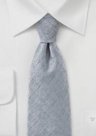 Handsome Silver Necktie
