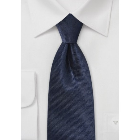 Dark Royal Blue Tie with Seagull Pattern