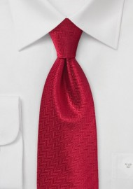 Feather Patterned Tie in Red