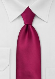 Solid Kids Length Tie in Christmas-Red