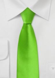Bright Lime Green Skinny Tie