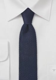 Dark Navy Blue Knitted Necktie