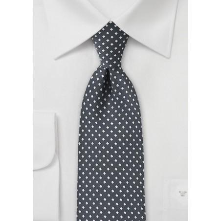 Gray and Silver Diamond Pattern Tie