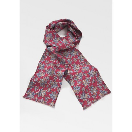 Stunning Paisley Scarf in Burgundy