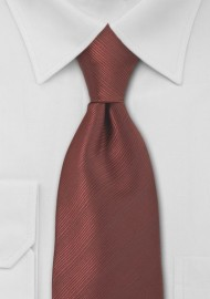 Bronze Red Necktie in Extra Long Length