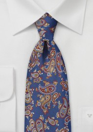 Scattered Paisley Necktie  in Blueberry