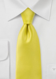 Proper Solid Yellow Necktie