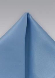 Solid Hued Pocket Square in Mediterranean Blue