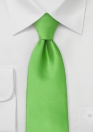 Bright Kelly Green Tie in Long Length