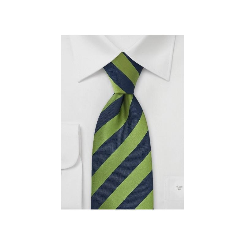 Navy and Fern Green Kids Necktie