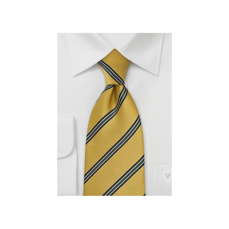 British Extra Long Tie in Collegiate Gold