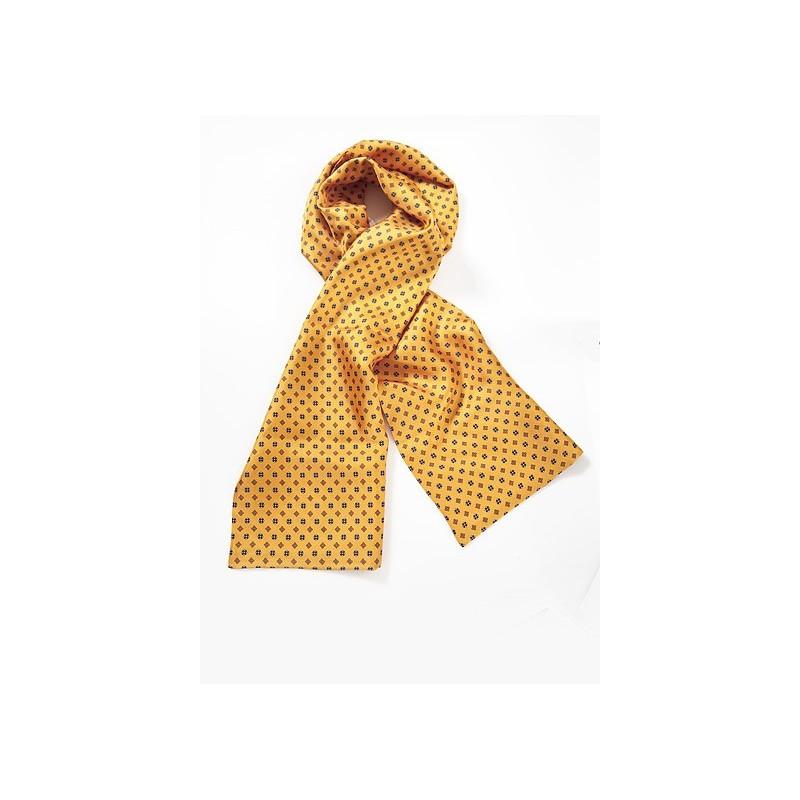 Patterned Scarf on Golden Orange
