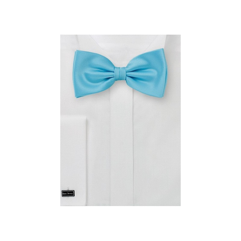 Pre Tied Bow Tie in Mermaid Blue