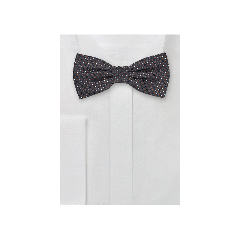 Navy Blue and Bronze Pre-Tied Bow Tie
