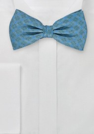 Graphic Teal Bow Tie with Yellow Accents