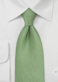 Kids Textured Green Tie