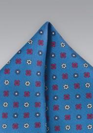 Silk Pocket Square in Vibrant Blue