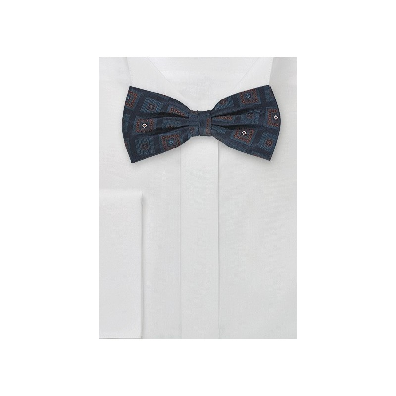 Silk Bow Tie in Navy Blue