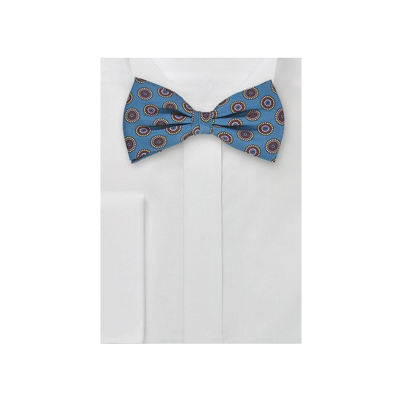 Silk Bow Tie in Teal