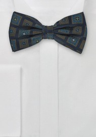 Navy Blue Silk Bow Tie