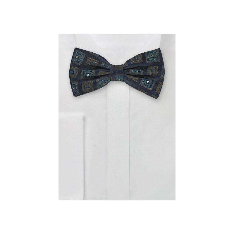 Navy Blue Silk Bow Tie
