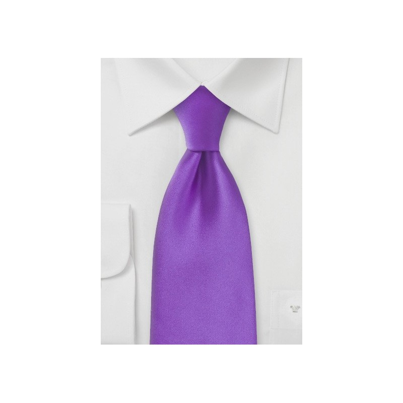 Solid Bright Purple Extra Long Length Tie