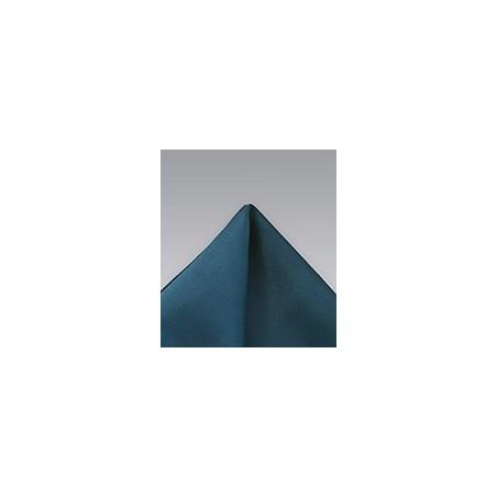 Turquoise Blue Microfiber Pocket Square