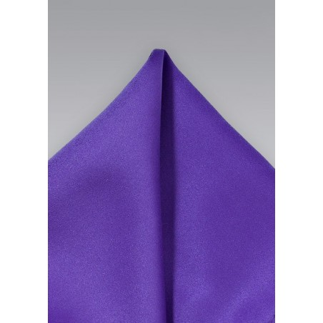 Solid Regency Purple Pocket Square
