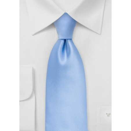 Solid Colored XL Length Tie in Sky Blue