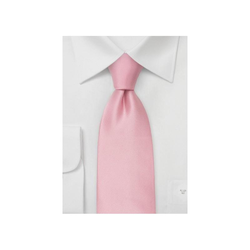 Light Pink Silk Necktie in XL Size