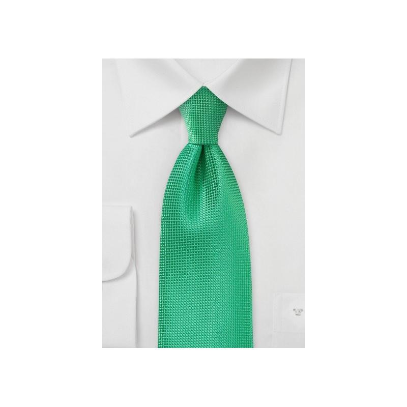 Textured Spring Green Necktie