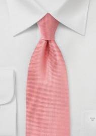 Textured Tie in Coral Sorbet