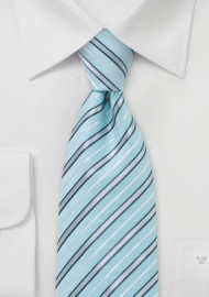 Wave Patterned Tie in Greys and Whites