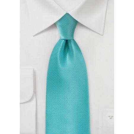 Textured Tie in Lagoon