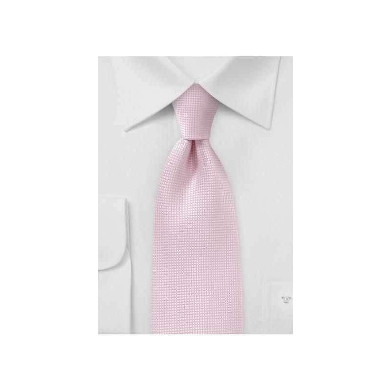 Textured Tie in Tea Rose