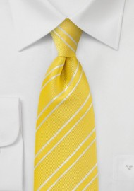 Neon Yellow and White Tie