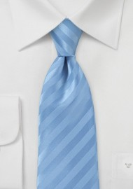 Narrow Men's Tie in Cornflower Blue