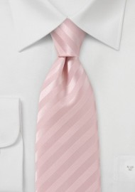Cotton Candy Pink Tie in Narrow Length