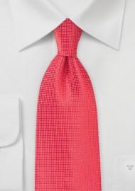 Textured Coral Necktie