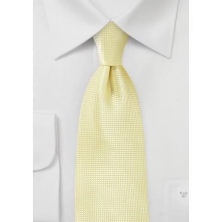Textured Tie in Citrine Yellow