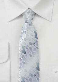 Skinny Designer Tie in Silver and Gray