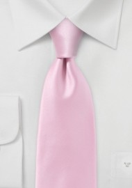 Rose Petal Pink Tie in Modern Narrow Cut