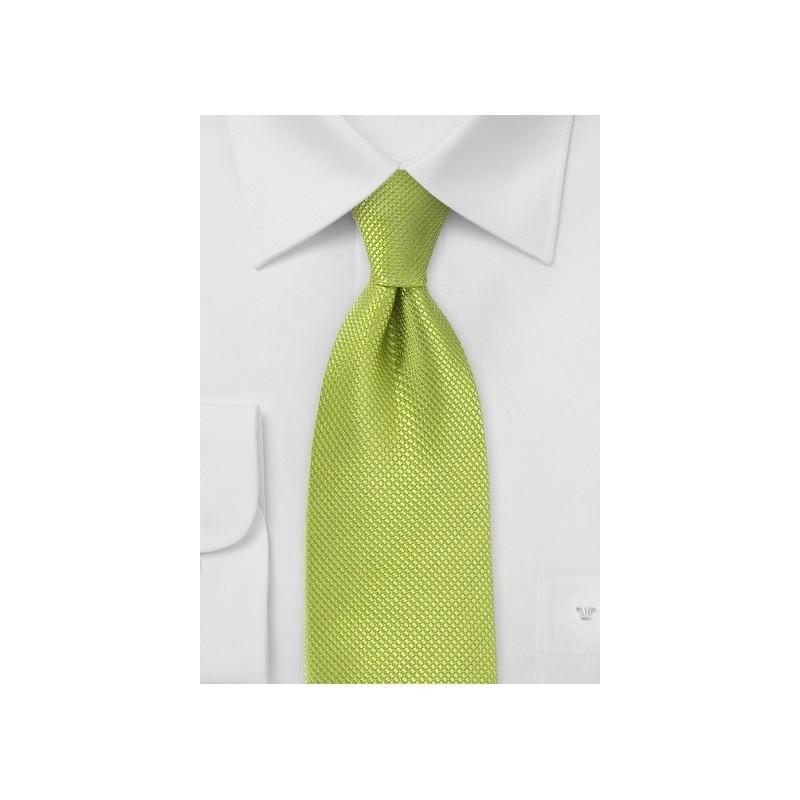 Bright Key Lime Tie in Pure Silk