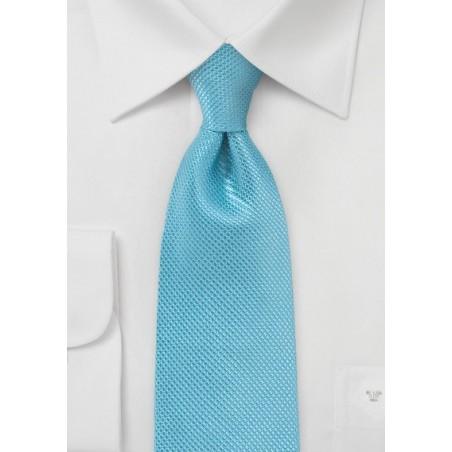 Sailboat Blue Necktie Made of Pure Silk