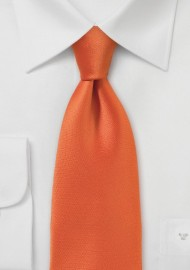 Bright Orange Sunset Necktie with Slimmer Cut